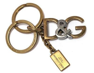 ドルチェ&ガッバーナ DOLCE&GABBANA キーリング PORTACHIAVI METALLO OTTONE ゴールド&ガンメタル BP1811 A9986 87200 メンズ レディース