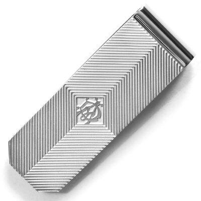 ダンヒル DUNHILL マネークリップ シェブロン CHEVRON シルバー JOB8635K メンズ