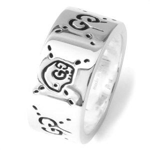 グッチ GUCCI リング【指輪】 ゴースト GHOST シルバー 455318 J8400 0701 メンズ レディース