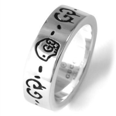 グッチ リング【指輪】 アクセサリー メンズ レディース ゴースト GHOST シルバー 477339 J8400 0701 GUCCI