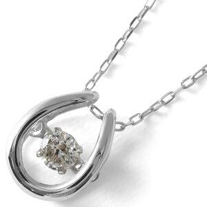 ジュエリー JEWELRY ネックレス ダイヤモンド 一粒 0.08ct K18 ダンシングストーン ホースシュー クリア&ホワイトゴールド D10118915 W レディース