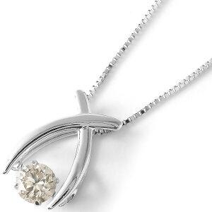ジュエリー JEWELRY ネックレス ダイヤモンド 一粒 0.3ct ダンシングストーン クロス クリア&シルバー DFTW1857 PT レディース