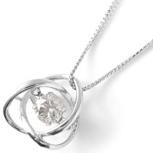 ジュエリー JEWELRY ネックレス ダイヤモンド 一粒 0.3ct ダンシングストーン クリア&シルバー DFTW2376 PT レディース