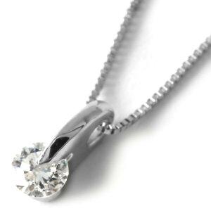 ジュエリー JEWELRY ネックレス ダイヤモンド 一粒 0.1ct クリア&シルバー DPTNC011 レディース