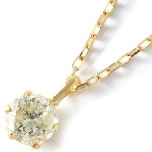 ジュエリー JEWELRY ネックレス ダイヤモンド 一粒 0.3ct K18 クリア&イエローゴールド DS20153 YG レディース