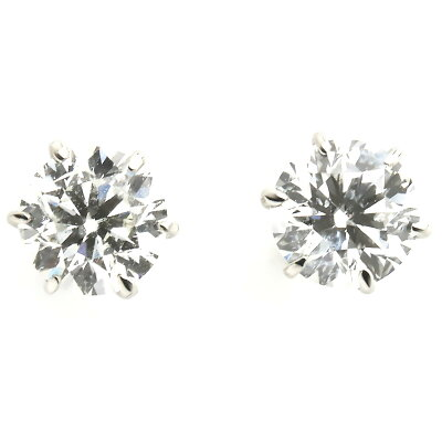 ジュエリー ピアス アクセサリー レディース ダイアモンド 0.6カラット 1粒 プラチナ 鑑定書付き クリア&シルバー DTDSIHC 06 JEWELRY