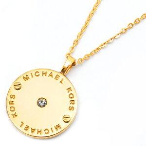 マイケルコース MICHAEL KORS ネックレス ロゴ ディスク 【LOGO】 ゴールド SMKJ2654710 レディース