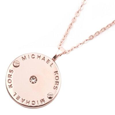 マイケルコース MICHAEL KORS ネックレス ロゴ ディスク 【LOGO】 ローズゴールド SMKJ2656791 レディース
