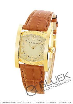 ブルガリ BVLGARI 腕時計 アショーマ YG金無垢 アリゲーターレザー ユニセックス AA39C13GLD
