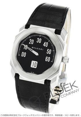 ブルガリ オクト レトログラード アリゲーターレザー 腕時計 メンズ BVLGARI BGO38BSLR