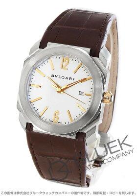 ブルガリ BVLGARI 腕時計 オクト ソロテンポ アリゲーターレザー メンズ BGO41WSLD