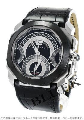 ブルガリ BVLGARI 腕時計 オクト ジェラルド・ジェンタ クアドリレトロ アリゲーターレザー メンズ BGO45BSCLDCHQR