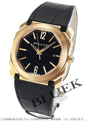 ブルガリ オクト PG金無垢 アリゲーターレザー 腕時計 メンズ BVLGARI BGOP41BGLD