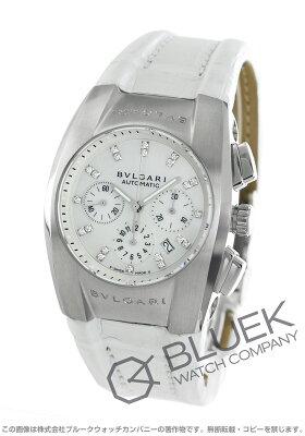 ブルガリ BVLGARI 腕時計 エルゴン クロノグラフ ダイヤ アリゲーターレザー ユニセックス EG35WSLDCH12