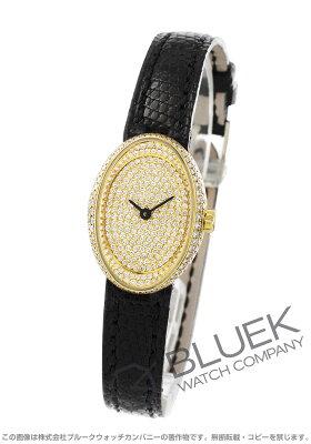 ブルガリ BVLGARI 腕時計 オーバル ダイヤ YG金無垢 リザードレザー レディース OV27DGL/RC3N