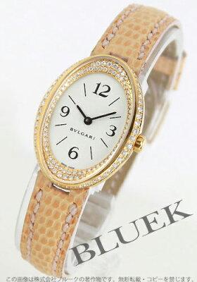 ブルガリ BVLGARI 腕時計 オーバル ダイヤ YG金無垢 リザードレザー レディース OV32GL/RC1