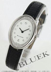 ブルガリ BVLGARI 腕時計 オーバル ダイヤ WG金無垢 リザードレザー レディース OVW32GL/R12