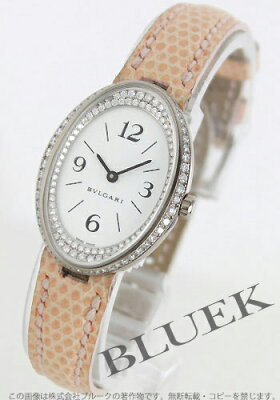 ブルガリ BVLGARI 腕時計 オーバル ダイヤ WG金無垢 リザードレザー レディース OVW32GL/RC1