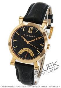 ブルガリ BVLGARI 腕時計 ソティリオ ブルガリ PG金無垢 アリゲーターレザー メンズ SBP42BGLDR