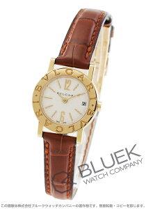 ブルガリ BVLGARI 腕時計 ブルガリブルガリ YG金無垢 アリゲーターレザー レディース BB23WGLD