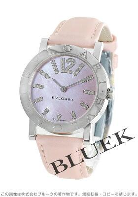 ブルガリ BVLGARI 腕時計 ブルガリブルガリ ダイヤ サテンレザー レディース BB33C2SL/D