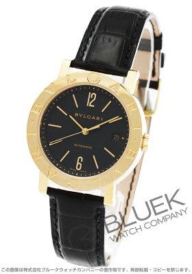 ブルガリ BVLGARI 腕時計 ブルガリブルガリ YG金無垢 アリゲーターレザー メンズ BB38GLD