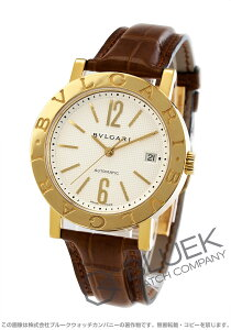 ブルガリ BVLGARI 腕時計 ブルガリブルガリ YG金無垢 アリゲーターレザー メンズ BB38WGLDAUTO