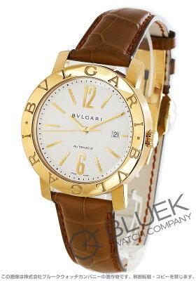 ブルガリ BVLGARI 腕時計 ブルガリブルガリ YG金無垢 アリゲーターレザー メンズ BB42WGLD AUTO