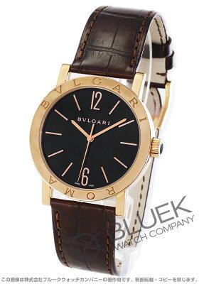 ブルガリ ブルガリブルガリ ローマ 世界130本限定 PG金無垢 アリゲーターレザー 腕時計 メンズ BVLGARI BBP39BGL/ROMA
