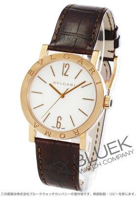 ブルガリ ブルガリブルガリ ローマ 世界130本限定 PG金無垢 アリゲーターレザー 腕時計 メンズ BVLGARI BBP39WGL/ROMA