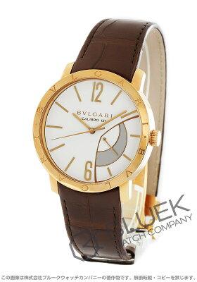 ブルガリ BVLGARI 腕時計 ブルガリブルガリ PG金無垢 アリゲーターレザー メンズ BBP43WGL