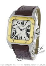 カルティエ Cartier サントス 100 アリゲーターレザー メンズ W20072X7