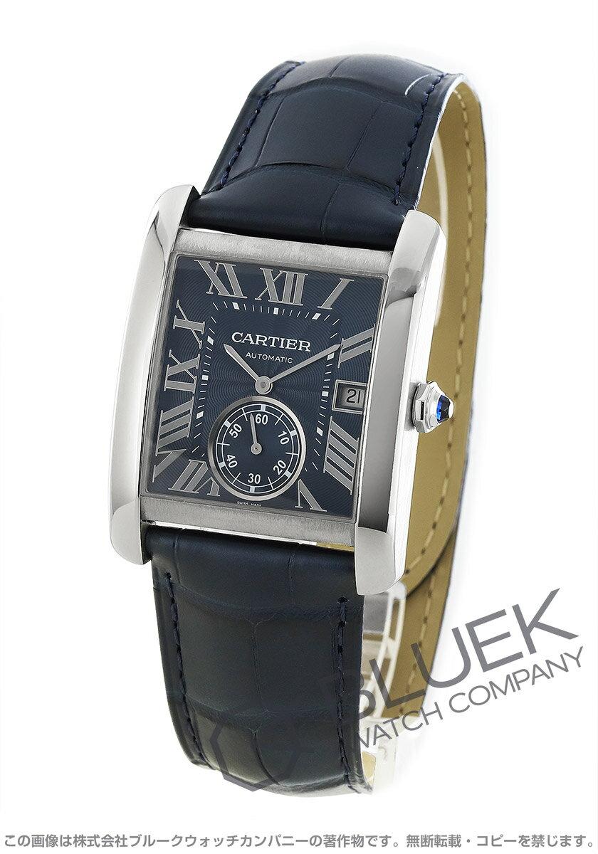 カルティエタンクMCアリゲーターレザー腕時計メンズCartierWSTA0010