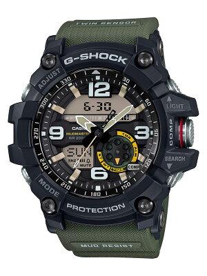 カシオ CASIO 腕時計 G-SHOCK マスターオブG マッドマスター ツインセンサー メンズ GG-1000-1A3JF