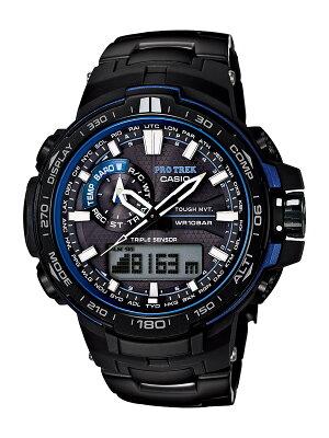 カシオ プロトレック トリプルセンサーVer.3 クロノグラフ パワーリザーブ ブルーモーメント 腕時計 メンズ CASIO PRW-6000YT-1BJF