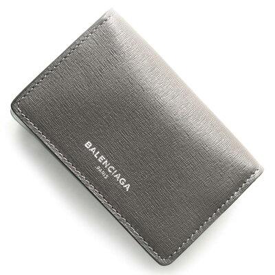 バレンシアガ BALENCIAGA カードケース エッセンシャル ESSENTIAL スチールグレー&ネオングリーン 440620 DLK1N 1380 レディース
