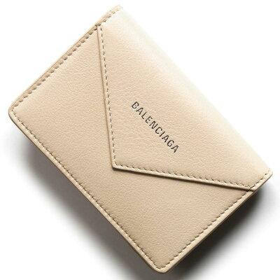 バレンシアガ 名刺入れ/カードケース レディース ペーパー シィン カード ベージュタピオカ 499201 DLQ0N 2730 BALENCIAGA