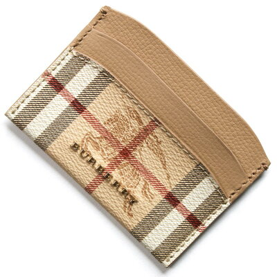 バーバリー BURBERRY カードケース ヘイマーケットチェック HAYMARKET CHECK ミッドキャメルブラウン 4060726 26750 レディース