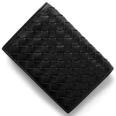 ボッテガヴェネタ (ボッテガ・ヴェネタ) BOTTEGA VENETA カードケース イントレチャート INTRECCIATO ブラック 120701 V4651 1000 メンズ