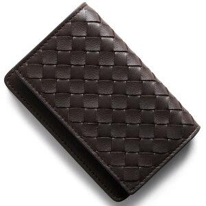 ボッテガヴェネタ (ボッテガ・ヴェネタ) BOTTEGA VENETA カードケース イントレチャート INTRECCIATO エバノブラウン 133945 V001U 2040 メンズ