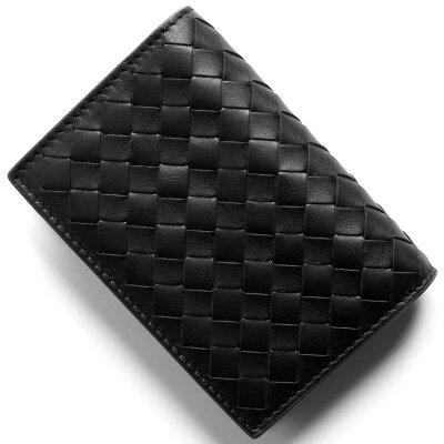 ボッテガヴェネタ (ボッテガ・ヴェネタ) カードケース/クレジットカードケース メンズ イントレチャート ブラック&ニューライトグレー 464902 V465U 8885 BOTTEGA VENETA