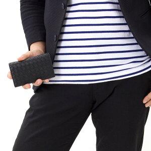 ボッテガヴェネタ カードケース メンズ イントレチャート 【INTRECCIATO】 ブラック 156823 V001N 1000 BOTTEGA VENETA