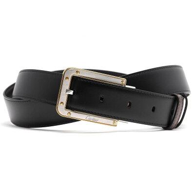 カルティエ CARTIER ベルト サントス 【SANTOS】 リバーシブル ブラック&ダークブラウン L5000434 メンズ