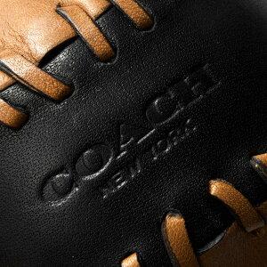 コーチ ソフトボール/インテリア小物 メンズ ベースボール ステッチ ブラック&サドルブラウン F65249 BKSD COACH