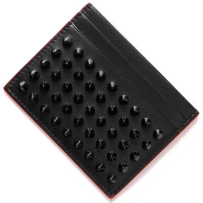 クリスチャンルブタン CHRISTIAN LOUBOUTIN カードケース キオス KIOS スパイク スタッズ ブラック&レッド 3165091 CM53 メンズ レディース