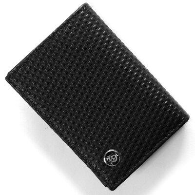 ダンヒル DUNHILL カードケース マイクロ ディーエイト D-EIGHT ブラック L2V347 A メンズ