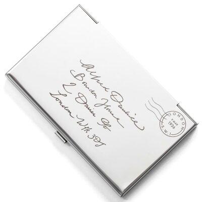 ダンヒル DUNHILL カードケース エンベローブ ENVELOPE シルバー QGB11101 メンズ レディース