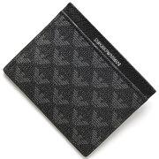 エンポリオアルマーニ EMPORIO ARMANI カードケース イーグルマーク ボードグレー&ブラック Y4R069 YO23J 86526 メンズ