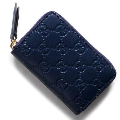 グッチ GUCCI カードケース GGシグネチャー ダークブルー 447939 CWC1G 4157 メンズ レディース