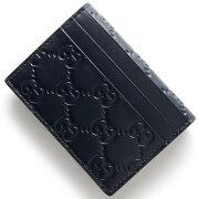 グッチ GUCCI カードケース GGシグネチャー ダークブルー 447948 CWC1G 4009 メンズ